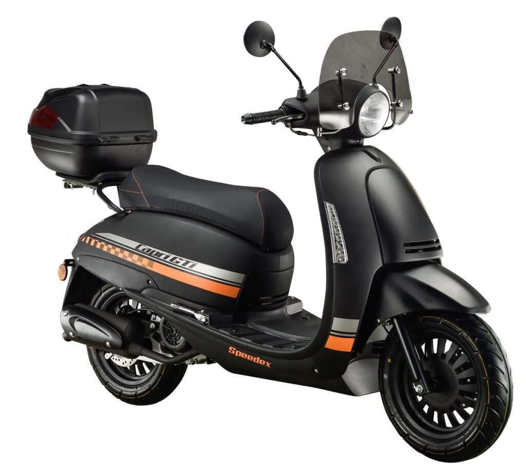 Speedex CAPRI GT 125i E4 4T matt schwarz/orange